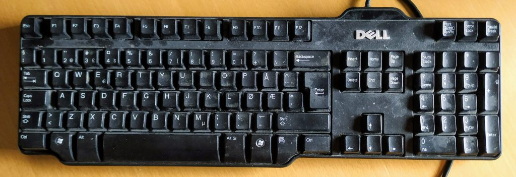 An old keyboard