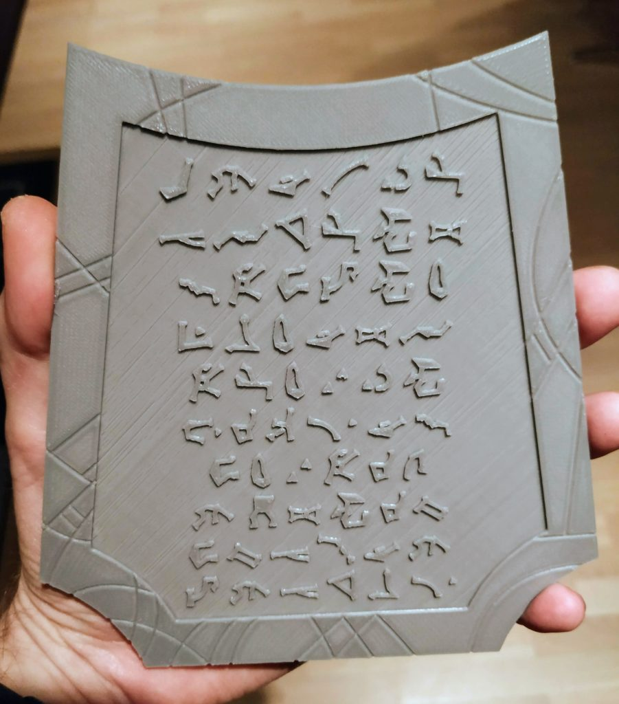 tablet with stargate addresses