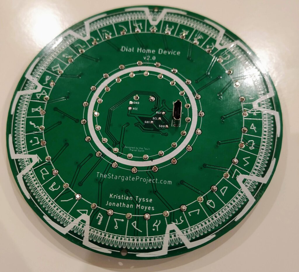 Assembled DHD PCB Back